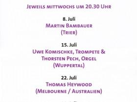 Internationaler Orgelsommer Konstantins-Basilika Trier 2015