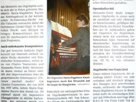 """""""Imposante Klangemaelde"""" - Pforzheimer Zeitung (D)"""